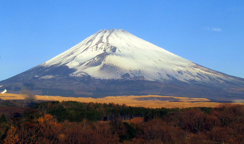 Mt Fuji im Fall stockfoto