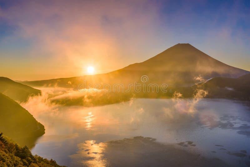 Mt Fuji Japan höst arkivfoto