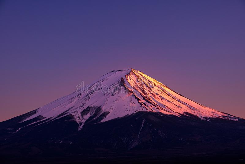 Mt. Fuji at kawaguchiko Fujiyoshida, Japan. Mount Fuji is Japan tallest mountain and popular with both Japanese and foreign. Mt. Fuji at kawaguchiko Fujiyoshida royalty free stock photos