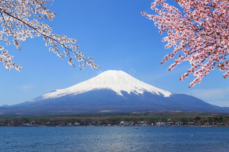 Mt.Fuji at Lake Yamanaka, Japan stock images