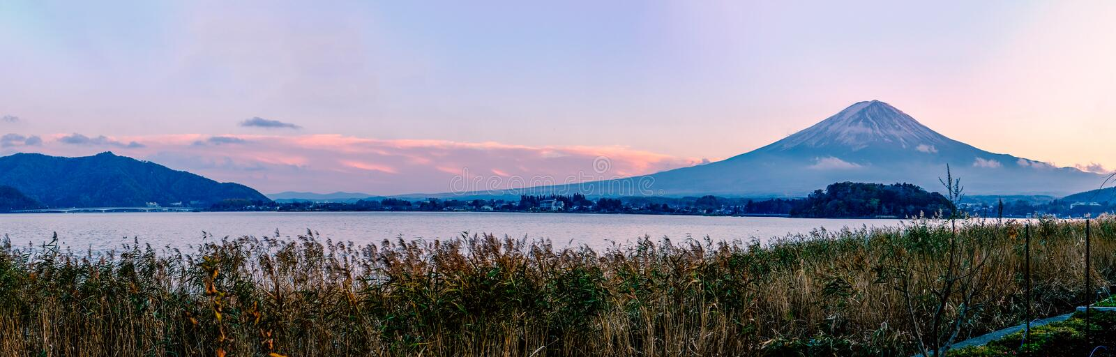 Mt.Fuji in the morning : View from Kawaguchiko royalty free stock photography