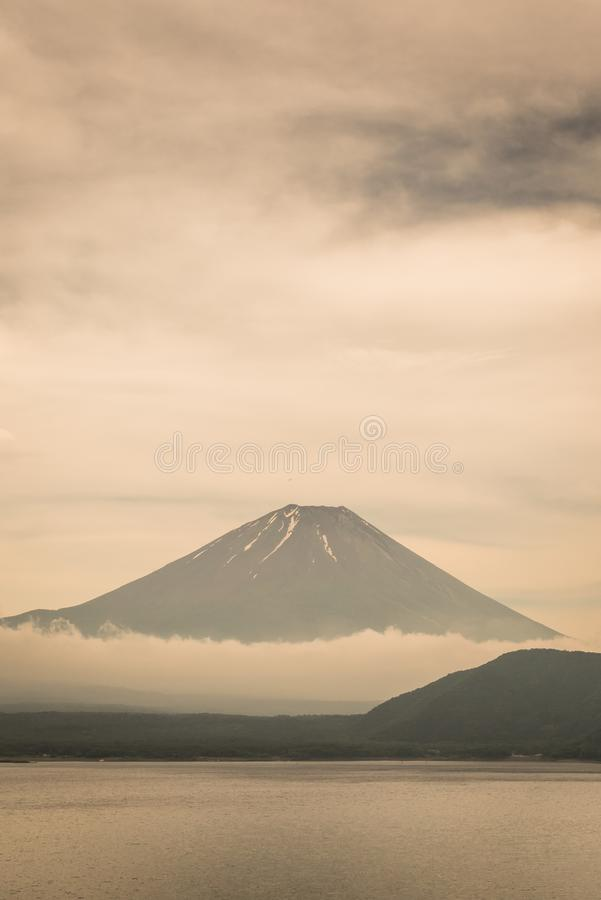 Mt.Fuji and Motosu lake stock image