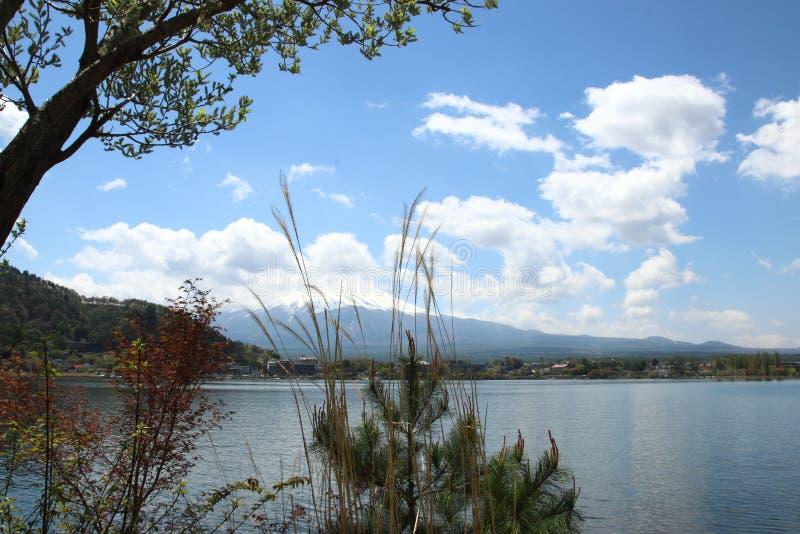 Mt Fuji nel lago Kawaguchi immagine stock