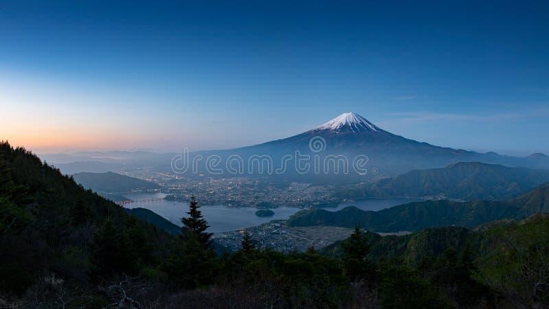 Mt Fuji no amanhecer fotos de stock