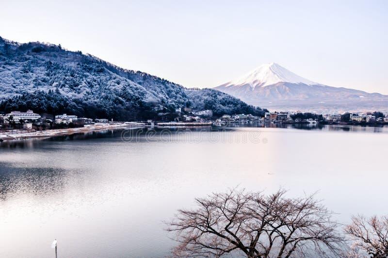 Mt Fuji no amanhecer foto de stock