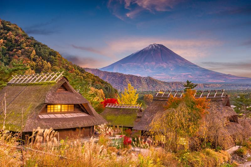 Mt Fuji, outono de Japão foto de stock royalty free