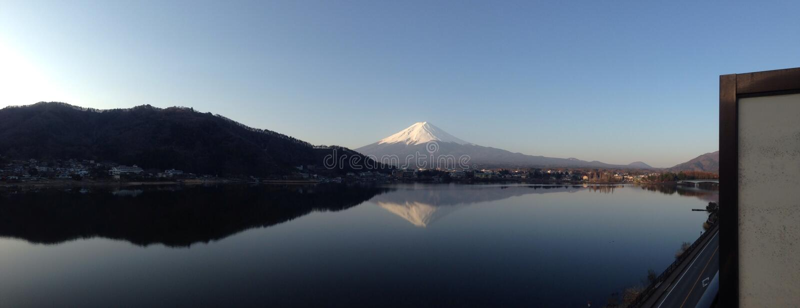 Mt Fuji (panoramisch) stockfotografie