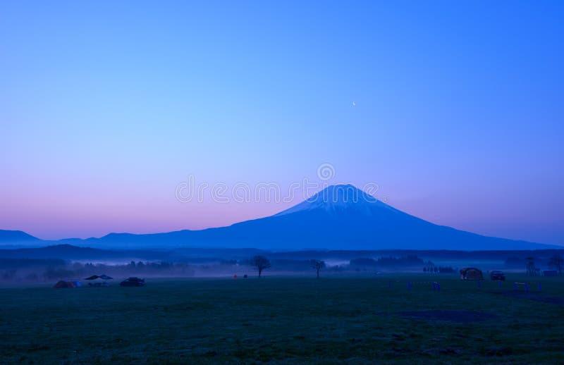 Mt Fuji przy świtem obrazy royalty free