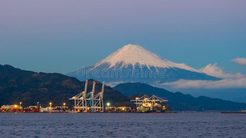 Mt. Fuji from Shizuoka, Japan stock image
