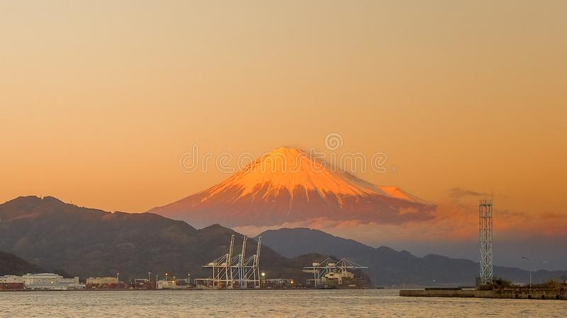Mt. Fuji from Shizuoka, Japan royalty free stock photos