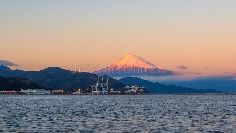 Mt. Fuji from Shizuoka, Japan royalty free stock image