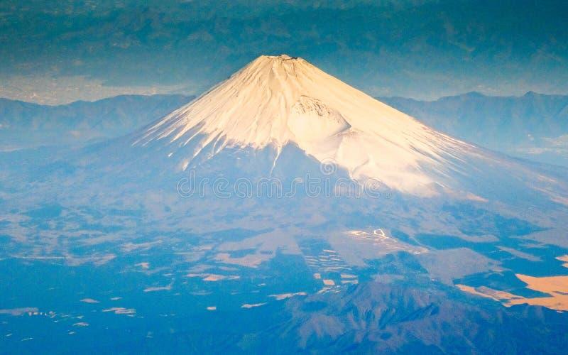 Mt.Fuji at sunrise. Aerial view of Mt.Fuji at sunrise, Japan stock photo