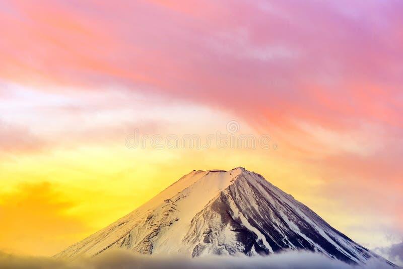 Mt.Fuji Sunrise. Mt.Fuji beautiful dawn sunrise in Kawaguchiko Fujiyoshida town stock image