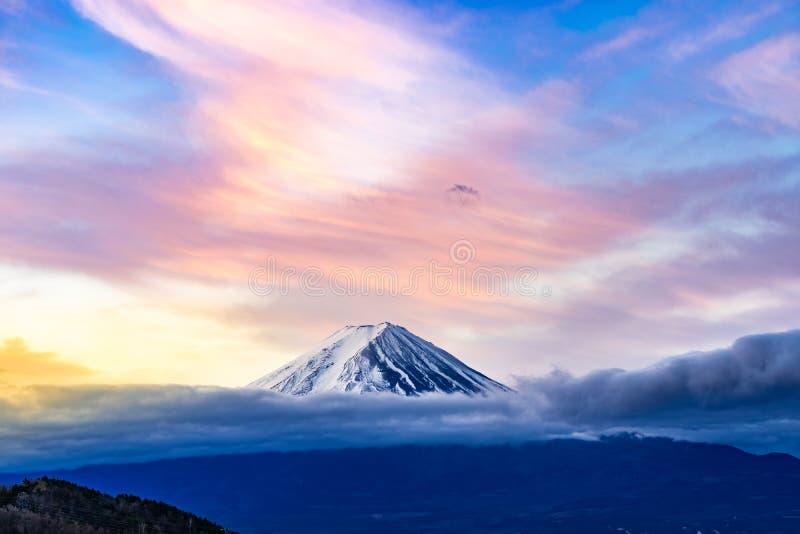 Mt.Fuji Sunrise. Mt.Fuji beautiful dawn sunrise in Kawaguchiko Fujiyoshida town stock photos