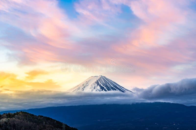 Mt.Fuji Sunrise. Mt.Fuji beautiful dawn sunrise in Kawaguchiko Fujiyoshida town royalty free stock photos