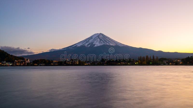 Mt Fuji in sunset twilight, Japan. royalty free stock photos