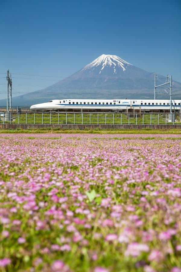 Mt Fuji und Tokaido Shinkansen lizenzfreie stockfotografie
