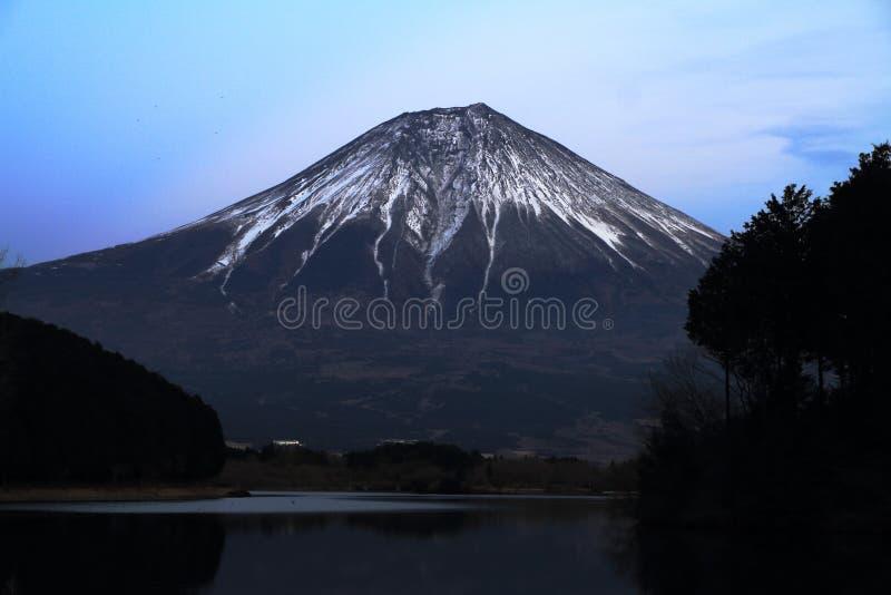 Mt. Fuji, view from Tanuki lake night scene. Mt. Fuji, view from Tanuki lake, Shizuoka, Japan night scene stock images