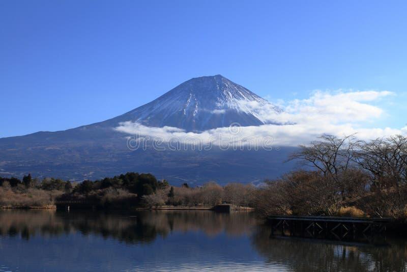 Mt. Fuji, view from Tanuki lake winter. Mt. Fuji, view from Tanuki lake, Shizuoka, Japan winter royalty free stock image
