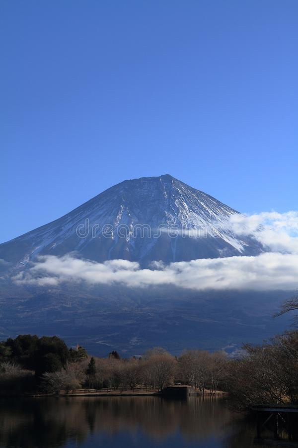 Mt. Fuji, view from Tanuki lake winter. Mt. Fuji, view from Tanuki lake, Shizuoka, Japan winter stock images