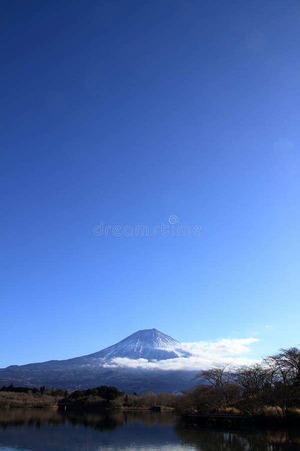 Mt. Fuji, view from Tanuki lake winter. Mt. Fuji, view from Tanuki lake, Shizuoka, Japan winter royalty free stock photo