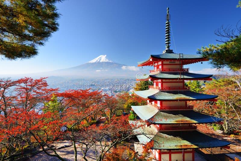 Mt. Fuji w jesieni zdjęcie royalty free