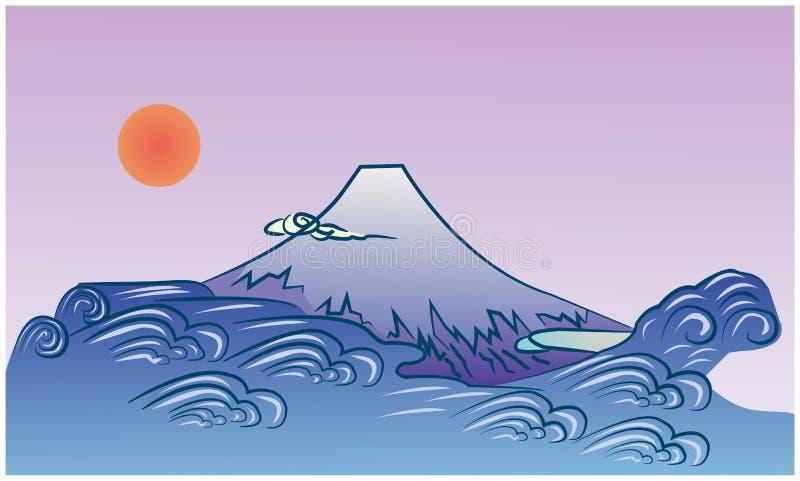 Mt Fuji y océano fotos de archivo