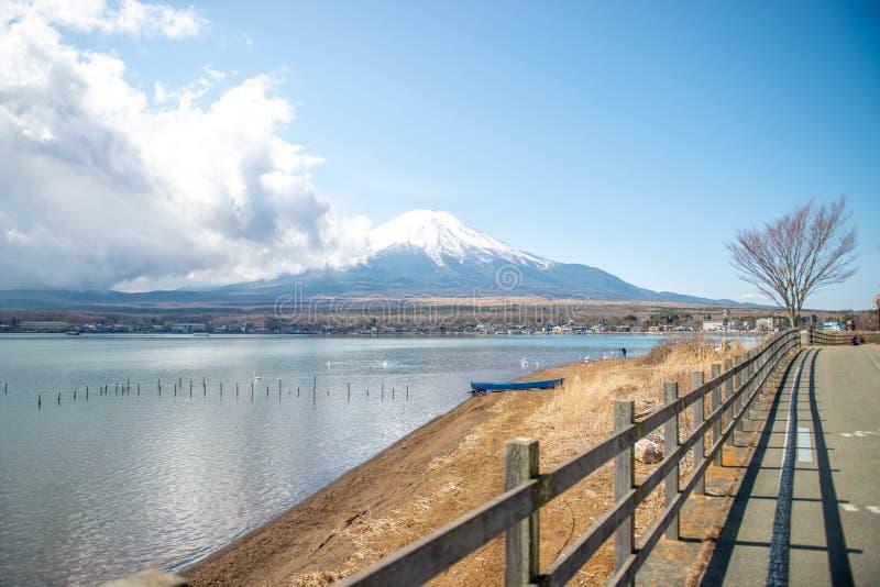 Mt Fuji Yamanakako i jezioro obrazy royalty free