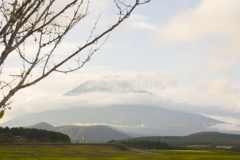 Mt. Fuji z spadków kolorami w Japan. zdjęcie royalty free