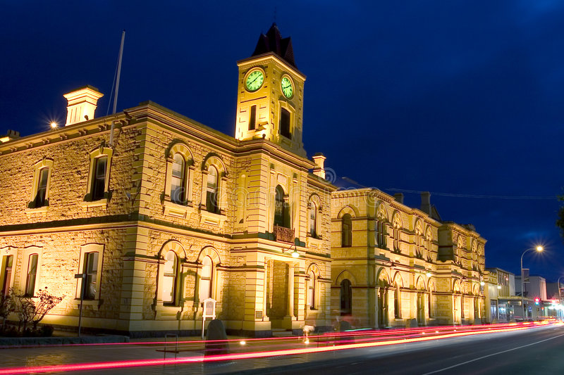 Mt. Gambier Townhall photo libre de droits