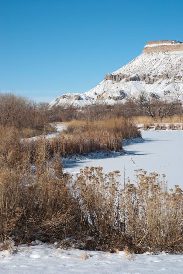 Mt. Garfield In Winter Royalty Free Stock Photo