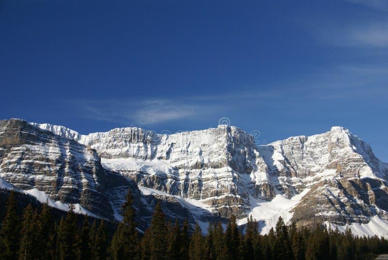 Mt. Hahnenfuß, hängender Gletscher lizenzfreies stockbild