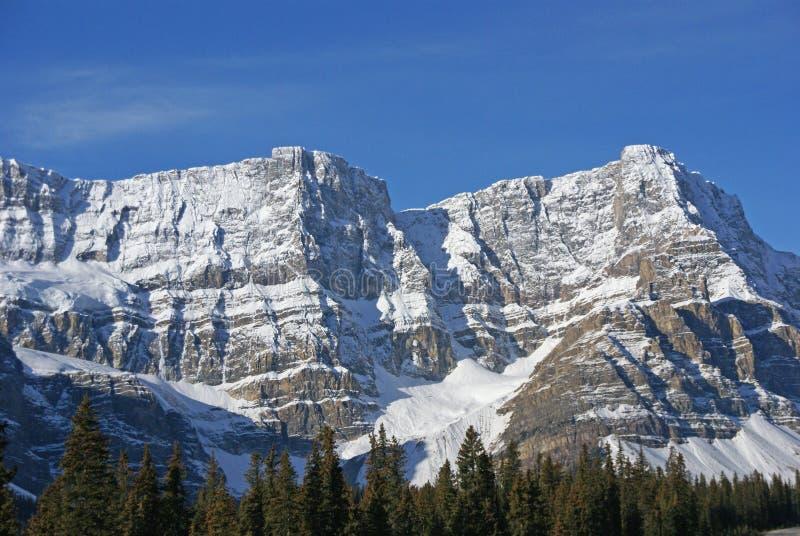 Mt. Hahnenfuß, hängender Gletscher im cirque lizenzfreies stockfoto