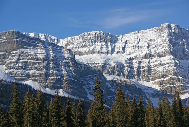 Mt. Hahnenfuß, hängender Gletscher im cirque lizenzfreie stockbilder