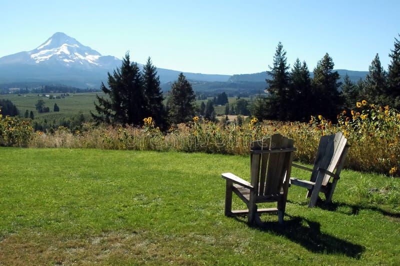 Mt. Hauben-Ansicht stockfoto