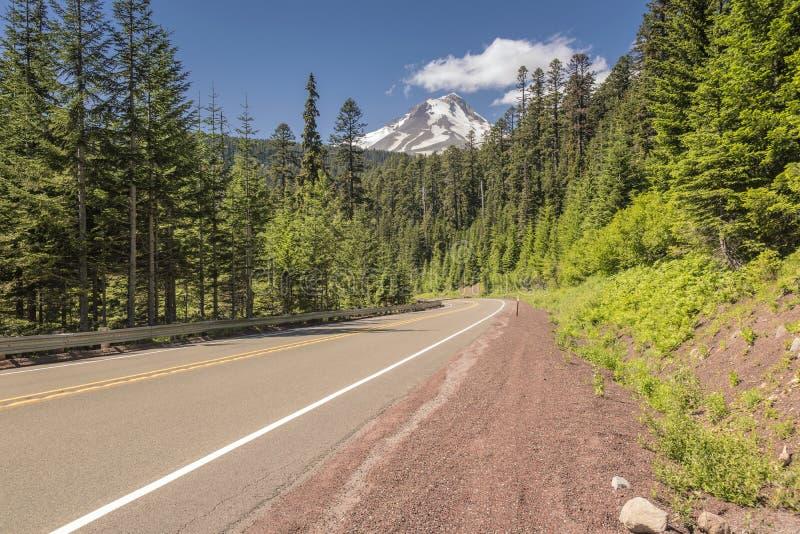 Mt Haubenwildnis und Hwy-26 Oregon Zustand stockfotografie