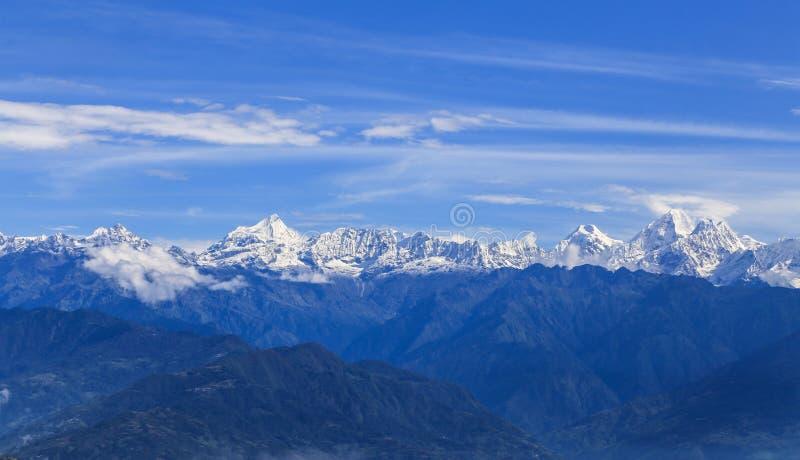 MT het meest everest genomen in nagarkot, Nepal royalty-vrije stock foto