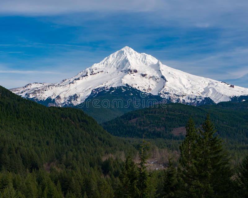 Mt Hood from Lolo Pass in Oregon 2 royalty free stock photography