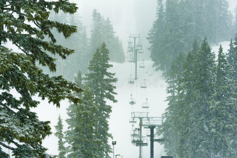 Mt Hood Meadows Ski Lift imagenes de archivo