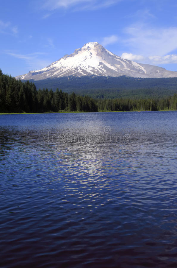 Mt. Hood & Trillium lake, Oregon. royalty free stock image
