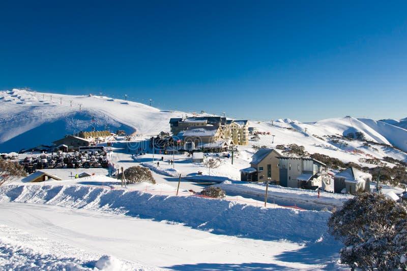 Mt Hotham no inverno imagem de stock royalty free