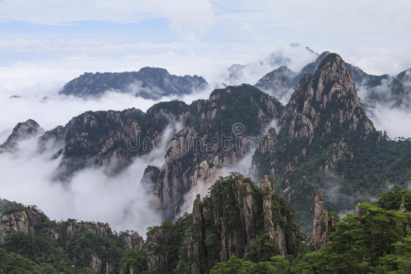 Download Mt. Huangshan stock image. Image of cliff, cloud, china - 34887775