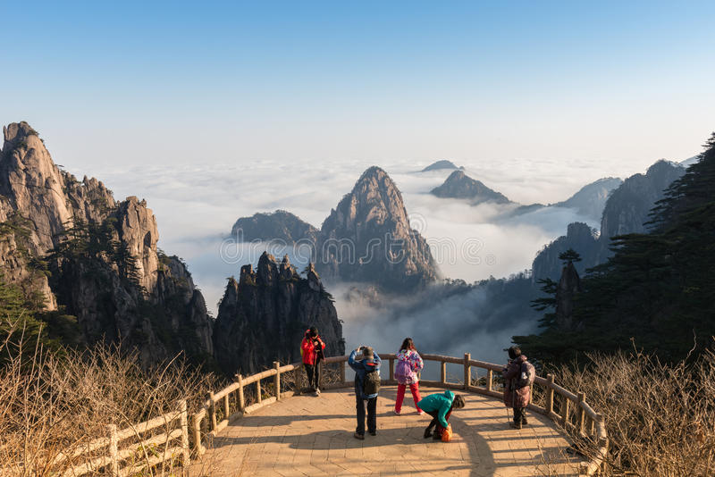 MT Huangshan in Anhui, China stock afbeeldingen