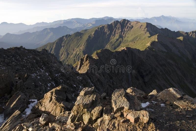 Mt.-Jadesüdspitze in Taiwan. lizenzfreies stockfoto