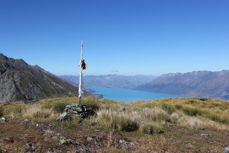 Mt Judah Summit, lac Wakatipu images stock