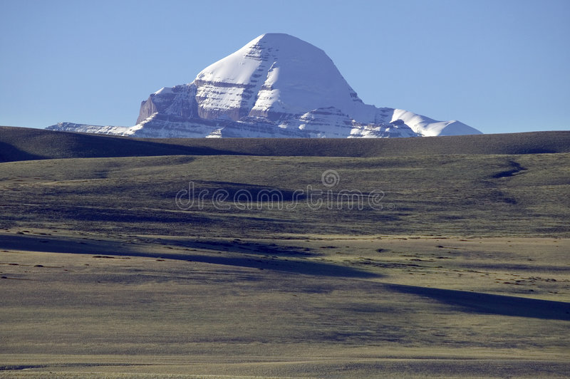 Mt. Kailas in Tibet stock photo