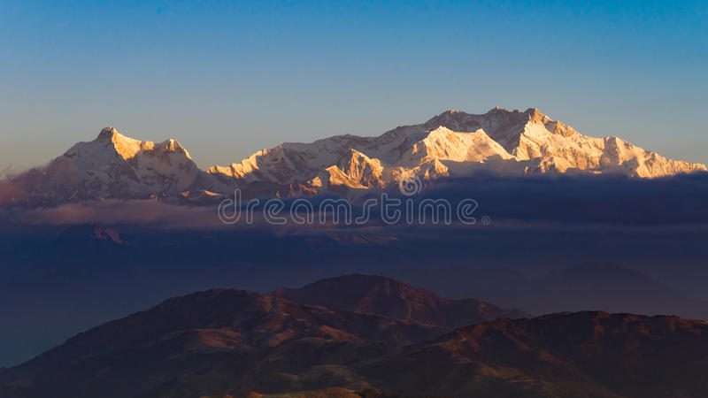 Mt. Kanchenjunga royalty free stock photography