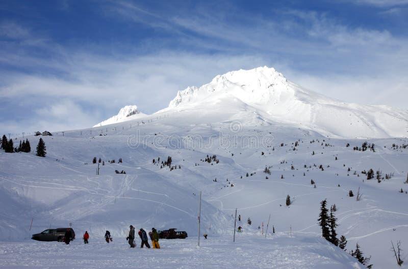 Mt. kap in de winter. royalty-vrije stock afbeelding