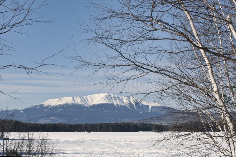 Mt. Katahdin lizenzfreie stockfotografie