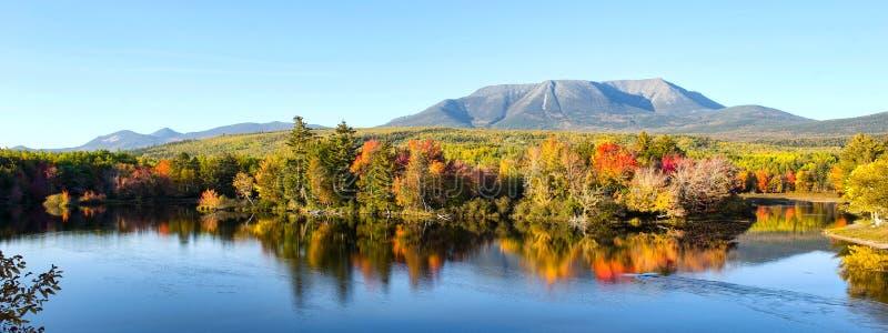 MT Katahdin Maine stock afbeeldingen